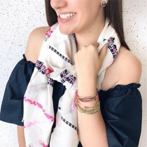 Stella & Dot embroidered Cora scarf